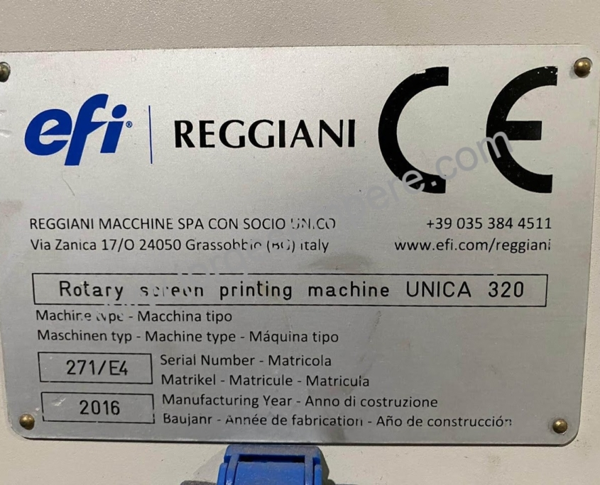 Rotary screen printing machine Unica 320